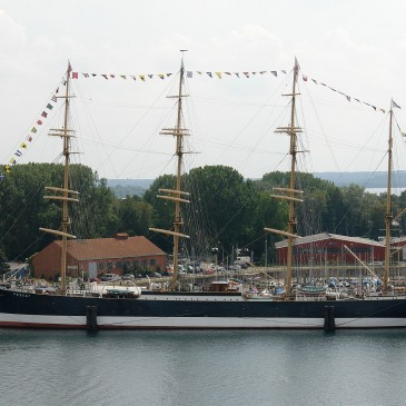 Ever been on a four-master? The Passat in Travemünde is open to the public again!