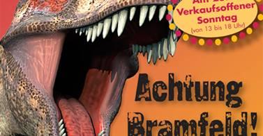 Dinosaurier im Bramfelder Einkaufzentrum