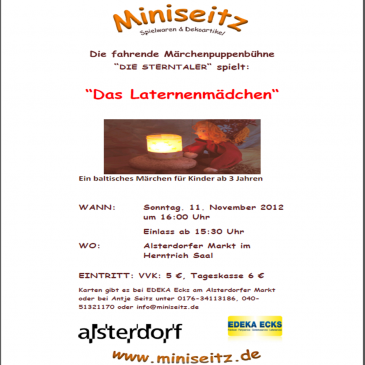 Puppet theatre in Alsterdorf: The Lantern Girl