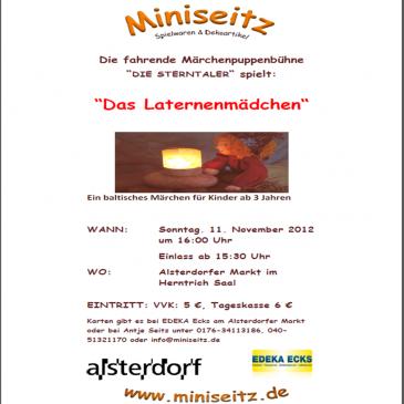 Puppentheater in Alsterdorf: Das Laternemädchen