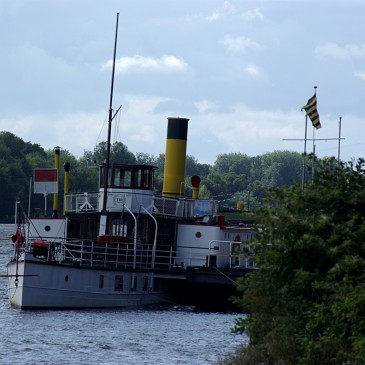 Sailing on a historical steam vessel